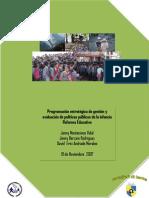 Programación estratégica de gestión y evaluación de políticas públicas de la infancia