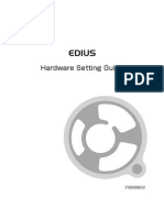 EDIUS HW Setting Guide