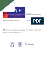 M. Takahashi et al- Effective field theory for spinor dipolar Bose Einstein condensates