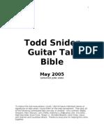 Todd Snider Guitar Tab Bible