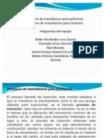 Proceso de manufactura para polímeros