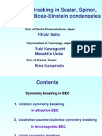 Hiroki Saito et al- Symmetry Breaking in Scalar, Spinor, and Rotating Bose-Einstein condensates