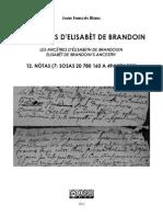 Joan Francés BLANC - Los aujòls d'Elisabèt de Brandoin 12