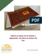 Oferta de Compra Libro Cultura de Paz