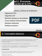 SO Unidad 2 Planificacion CPU FCR