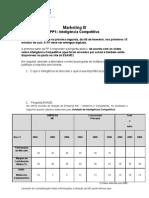 Marketing III - Turma ADM RI - PP1 para ser entregue dia 06 de fevereiro - Inteligência Competitiva - Módulo A