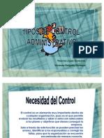 Tipos de Control Administrativo