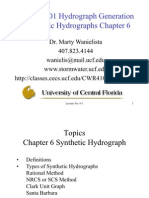 Lecture 06 Synthetic Hydro Graphs