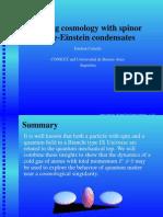 Esteban Calzetta- Analog cosmology with spinor Bose-Einstein condensates