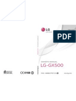 LG GX500 Dual Black Hand Lei Ding Engels