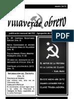 Villaverde Obrero - Número 7 - Enero 2o12