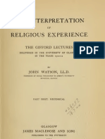 John Watson THE INTERPRETATION OF RELIGIOUS EXPERIENCE Part First HISTORICAL Glasgow 1912