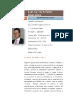 Juan Carlos Amador Benavides Hoja de Vida