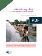 trabajo infantil ecuador