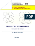 Mec 224 Properties of Mat Theory