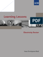 Learning Lessons in the Electricity Sector