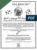 BEF 2012 Trivia Night Flyer