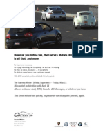 Carrera Motors Driving Experience Spring 2012