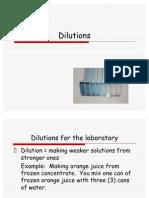 Dilutions AV
