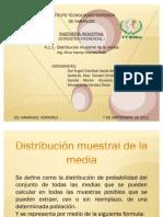 Distribucion Muestral de La Media