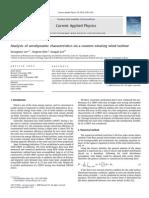 [2010]Suenmin Lee_ Analysis of Aerodynamic Characteristics on a Counter-rotating Wind Turbine