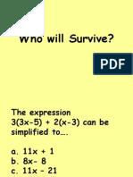 Survivor Example Game