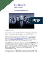 Dear Speaker Gingrich - PolitiJim