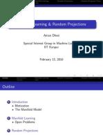 Manifold Learning & Random Projections