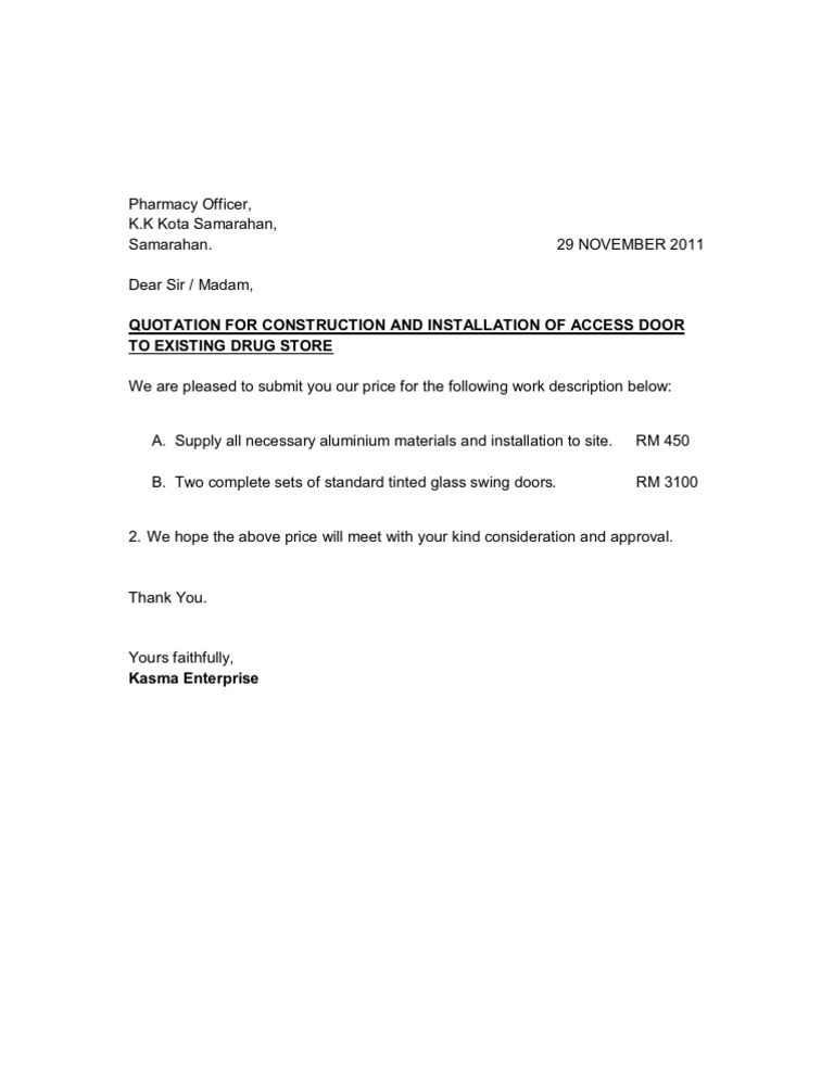 Sample Quotation Letter Analog To Digital Converter – Sample Quotation Letter
