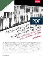 EL SIGNIFICADO ACTUAL DE LA REBELION ESTUDIANTIL DE 1968 CONSUELO SÁNCHEZ
