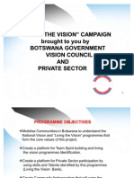 Living the Vision Programmes and Campaign