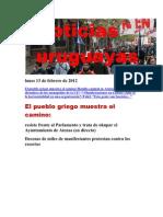 Noticias Uruguayas viernes 10 de Febrero de 2012
