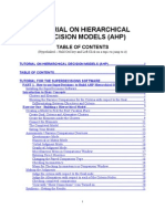 Tutorial for Building AHP Decision Models