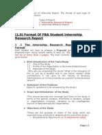Internship Report Format Spring 2012