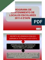 Capacitacion Mantenimiento 2011-2da Etapa