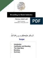 Branding in Halal Industry by Pn Mariam Abdul Latif, Halal Consultant