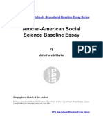 portlandbaselineessays-Socialscience -Dr. John Henrik Clarke