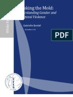 Gender and Electoral Violence 2011