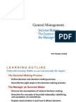 General Management - Decision Making