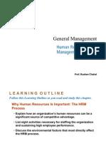 General Management - Human Resource Management