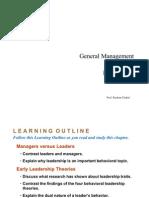 General Management - Leadership