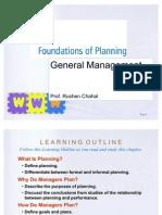 General Management - Planning