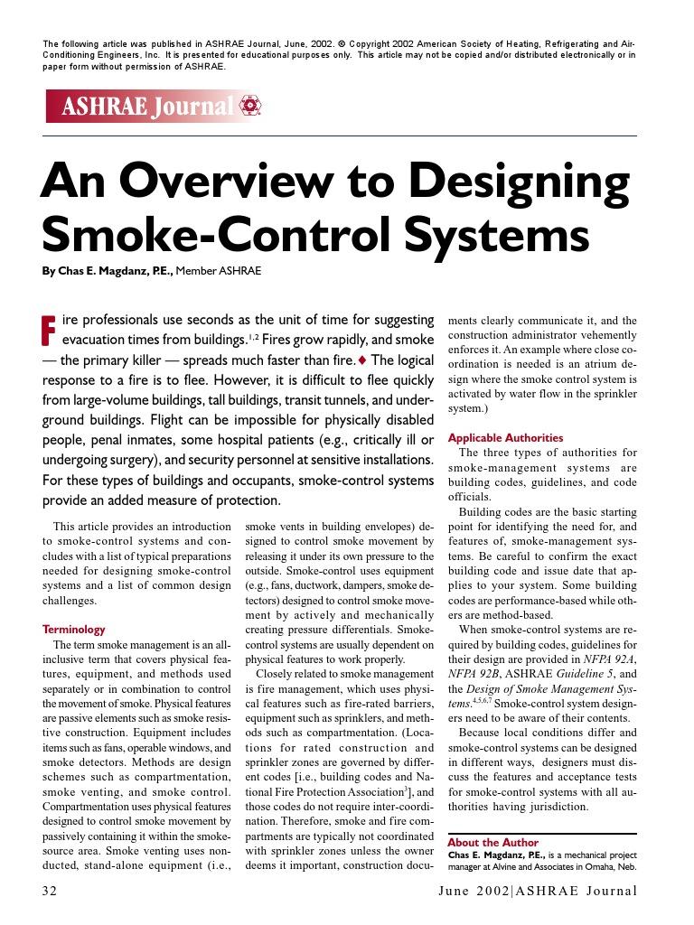 Designing Smoke Control Systems Duct Flow Computational Fluid Dynamics