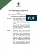 KMK No. 039 Ttg Pedoman Penyelenggaraan Kedokteran Gigi Keluarga