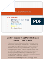 Ciri Khas Demokrasi Di Indonesia