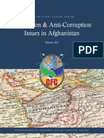 Corruption and Anti-Corruption Issues in Afghanistan