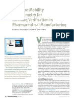 Ion Mobility Spectrometry for Cleaning Verification in Pharmaceutical Manufacturing