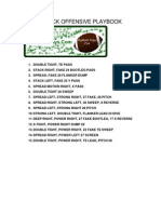 single back offense by footballplays