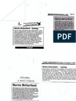 Northumbria Police and their deliberate drugs slur and smear against Martin McGartland to conseal serious endemic corruption within Northumbria Police Headquarters and also to cover-up IRA involvement in Martin McGartland's  attempted murder.