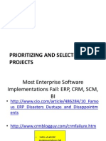 Prioritizing and Selecting IT Projects - Lecture Notes